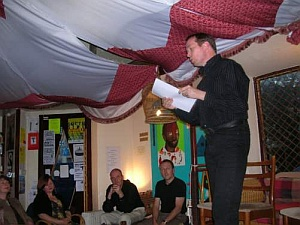Scottish Poet Graham Fulton at Tchai Ovna, 2008